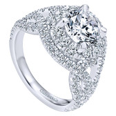 Gabriel&Co 14k White Gold Contemporary Engagement Ring - ER11996R6W84JJ