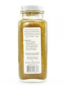Marshall's Haute Sauce - Serrano Ginger Lemongrass - Back Label