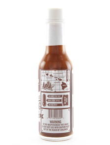 Adoboloco Hot Sauce - Hamajang Kiawe Smoked Ghost Pepper - Back