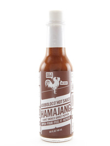 Adoboloco Hot Sauce - Hamajang Kiawe Smoked Ghost Pepper - Front
