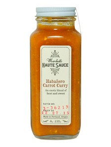 Marshalls Haute Sauce - Habanero Carrot Curry Hot Sauce - Front