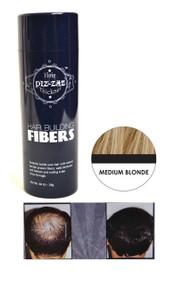 Piz-zaz All Natural Organic Keratin Protein Hair Fibers | Instant Hair Thickening System - Medium Blonde