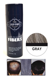 Piz-zaz All Natural Organic Keratin Protein Hair Fibers | Instant Hair Thickening System - Gray