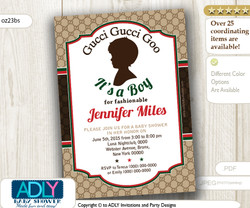 Gucci Gucci Goo It's a Boy for fashionable mommy to be Invitation for Baby Shower