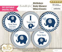 DIY Text Editable Boy Peanut Cupcake Toppers Digital File, print at home, suitable for birthday, baby shower, baptism n