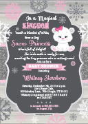 Snow Winter Princess Baby Shower Invitation
