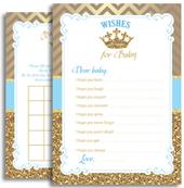 Royal Blue Prince Printable Files for Shower