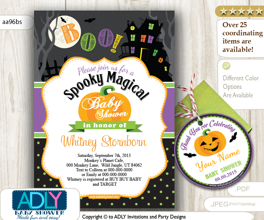 Halloween Invitation for Baby Shower