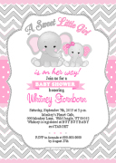 oz110bsp pink grey mommy baby girl elephant shower
