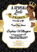 Black Gold Royal African American Prince King Invitation