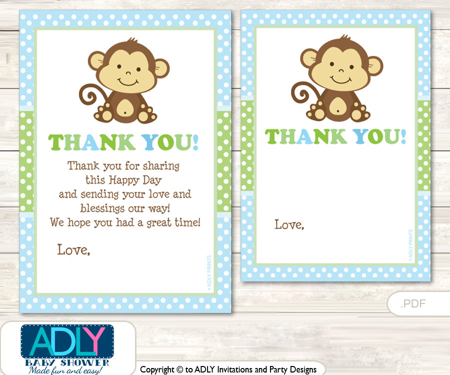 Diy baby shower thank you cards