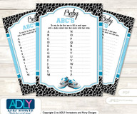 Sneakers Jumpman Baby ABC's Game, guess Animals Printable Card for Baby Jumpman Shower DIY –MVP
