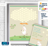 Neutral Lamb Guest Book Alternative for a Baby Shower, Creative Nursery Wall Art Gift, Polka, Beige
