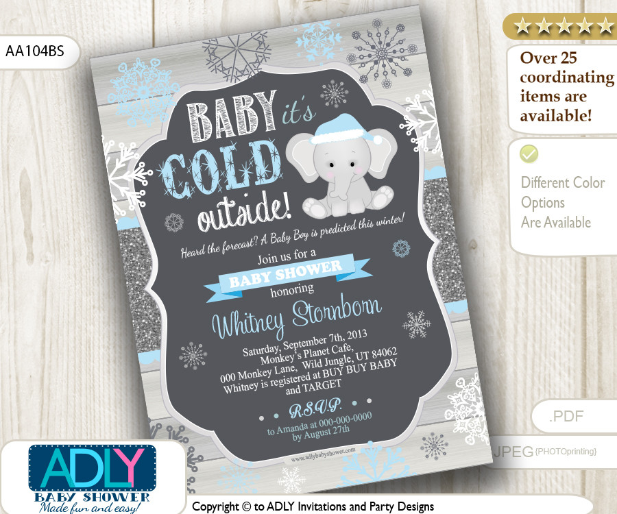 winter baby shower invitations - Military.bralicious.co