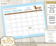Boy Dog Baby Due Date Calendar, guess baby arrival date game