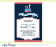 It's a boy Blue Red Train Baby Boy Shower Printable DIY party invitation for boy, Train Invitation, choo