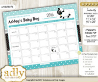 Boy Lamb Baby Due Date Calendar, guess baby arrival date game