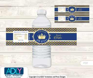 Crown Prince Water Bottle Wrappers, Labels for a Prince Baby ...