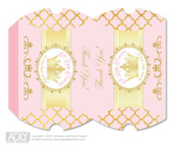 Princess Royal  Royal Pillow Box for Candy, Little Treats or Small Gift of any Baby Shower or Birthday,  Gold Pink  ,  Elegant