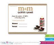 Gucci Boy Fashion M&M Game, Guess How Many Game Candies in the bottle  Baby shower  Fashion  Shower DIY Brown Red  Gucci