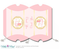 Little Angel Pillow Box for Candy, Little Treats or Small Gift of any Baby Shower or Birthday, Gold , Pink