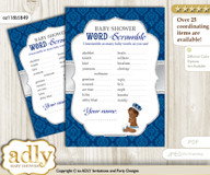 African Prince Word Scramble Game for Baby Shower mmm
