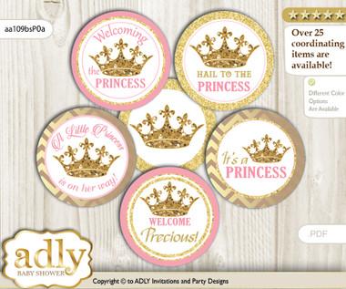 Baby Shower Royal Princess Cupcake Toppers Printable File ...