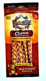 Poochie Braided Retriever Chews - Beef & Cheese - 5 Pack - Buy Three 5PK Packages #00048 Braids & Receive One Bag of Beef & Cheese Mini Knot  FREE (Value of $6.99 $avings)
