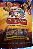 Poochie Chicken & Sweet Potato Knots - 18 Pk