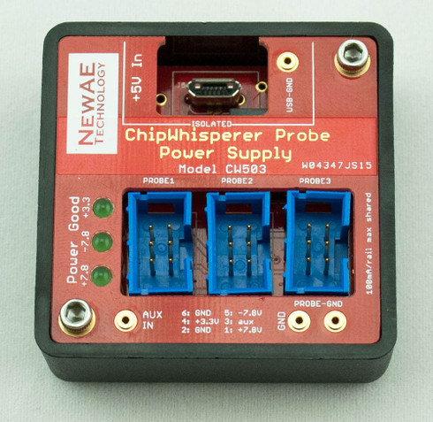 Provides three channels for probe connections. Isolated to avoid introducing ground loops.