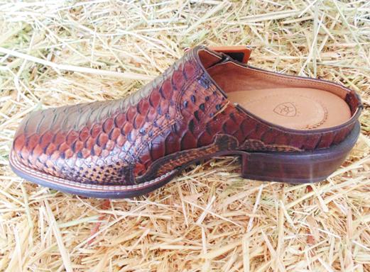 Ariat Women's Slip-On Casual Western Cognac Snake Mule Shoe, In ...
