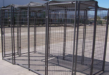asi dog kennel with shade cloth cover 6 foot by 10 foot in store only