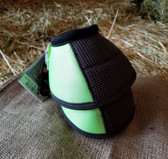 Cactus Ropes Relentless Strikeforce Bell Boots for horses, Med, Green