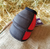 Cactus Ropes Relentless Strikeforce Bell Boots for horses, Red, Size Med