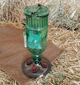 Antique Green Bottle Hummingbird Feeder 24 oz. capacity (KC)