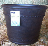 """Natures Gallery Classic Collection Belona/Chocolate Brown Planter, 20"""""""