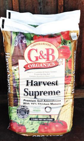 Natural organic gardner bloome harvest supreme soil for Harvest organic soil
