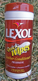 """Lexol Quick Wipes Leather Conditioner, 25 7"""" x 9"""" Premoistened Towels"""