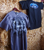 Cowboy Up! Men's Quality T Shirt, Black, Medium (In Store Only)