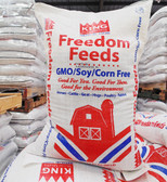 King Brand Freedom Natural Lay Crumbles, NON GMO (for poultry laying hens) 50 lb.