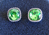 Brighton Womens Green Sparkle Earrings