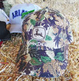 John Deere Camo Baseball Cap, Velcro Adjustable Back