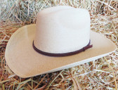 Atwood Natural Straw Cowboy Hat With Brown Band, Available in Youth Sizes S-Lg (In Store Only)