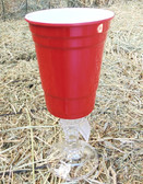 """ P"" Original Red Nek Party Cup, Looks Like Red Solo Cup, With Real Glass Stem, 16 oz."