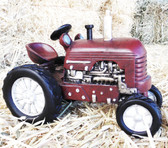 """P"" Home Decor Little Red Tractor Collectable 8"" length x 6.5"" Tall"