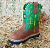 John Deere Children's Boots, Green and Brown (In Store Only)