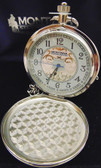 Montana Silversmith's Silver Beautiful Polished/Engraved Pocket Watch, Heirloom Silver Heavy Quality