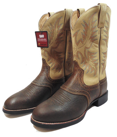 Ariat Men's Boots, Heritage Stockman, Tumbled Brown, Round Toe ...