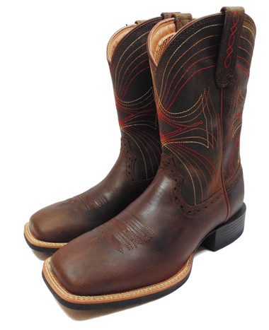 Ariat Boy's Square Toe Boot, Navy With Primary Color Details (In ...