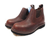 Carhartt Men's Work Boots, Genuine Full Grain Waterproof Leather,  Soft Toe, Electrical Hazard, Slip On Romeo Brown (Available In Store)